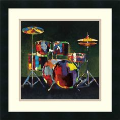 Style your home to a new beat with this fun Amanti Art Drum Set framed wall art. Framed Wall Art, Framed Art Prints, Poster Prints, Drums Art, Music Painting, Painting Art, Kunst Poster, Pop Art, Instruments