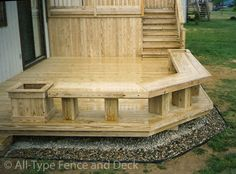 deck planter box ideas | Beautiful Decks, Your Design or Ours