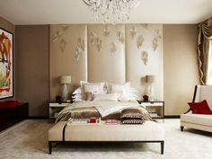 Decorate your room in a new style with murphy bed plans Apartment Interior, Apartment Design, White Apartment, London Apartment, Studio Apartment, Tall Headboard, Leather Headboard, Headboard Ideas, Transitional Bedroom