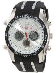 be98c542a49 Men s Black Rubber Strap Analog Digital Watch - U. Men s Black Rubber Strap  Analog Digital Watch Quality quartz movementCase diameter  45  mmEasy-to-read ...