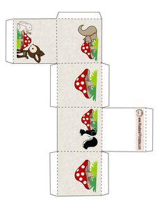 Cute Woodland Favor Box Printable