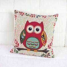 Red Owl Cushion - Natural Fibre Fill - Allergy Free, #Alpacas #Australian