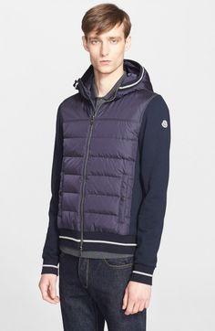 Moncler Men's Mixed Media Hooded Jacket   Coat, Jacket and Clothing