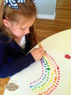 Engage children of all ages with rainbow q-tip painting. Rainbow q-tip painting is perfect for Spring or St. Toddler Learning Activities, Spring Activities, Craft Activities, Fun Learning, Q Tip Painting, Painting For Kids, Rainbow Crafts, Art Lessons Elementary, Crafts For Kids To Make