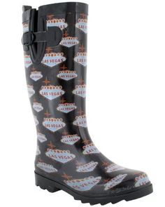 Capelli New York Welcome To Vegas Printed Ladies Tall Sporty Rubber Rain Boot Capelli New York. $14.95. Sporty Body. Printed Tall. Rubber. Made in China. Waterproof