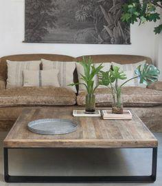 Mesa cuadrada metal y madera - vilmupa Love Home, New Homes, Vintage Ideas, Ph, House, Color, Future, Home Decor, Gardens