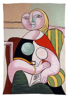 PABLO PICASSO - MODERN ART WALL TAPESTRY LA LECTURE (painted in 1932)