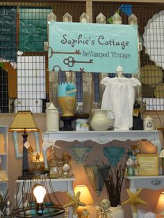 Antique mall booth display ideas after. Boutique San Francisco, Antique Mall Booth, Window Graphics, Shop Window Displays, Booth Displays, Senior Home Care, Shop Interior Design, Interior Paint, Shop Organization