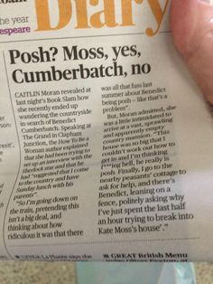 Oh, this is great!! Of course he lives in a cottage. Of course!