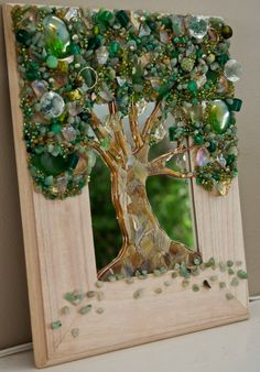 Tree of Life Mixed Media Assemblage Mosaic Art by LiveLoveWander