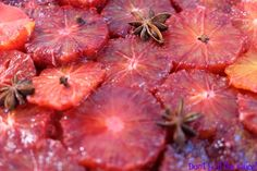 Spice Baked Blood Oranges keeps the fruit very close to their original state, when the produce is this good you really don't want to mess around with nature. Blood Orange, Grapefruit, Spices, Strawberry, Baking, Breakfast, Christmas, Food, Morning Coffee