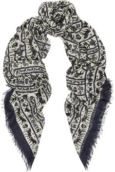 ALEXANDER McQUEEN SCARF GREY CHECK WITH PINK ICONIC SKULL MOTIF MODAL /& SILK
