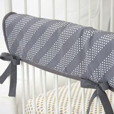 Tribal Arrow Baby Bedding   Gray and White Crib Rail Cover