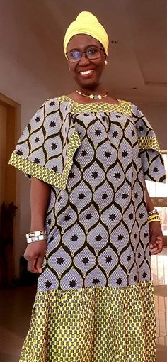 African Fashion Dresses, African Dress, Kaftan, Sari, Chic, Hair Styles, Womens Fashion, How To Wear, Chocolate