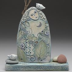 Goddess of the forest, ceramic sculpture by Sue Davis