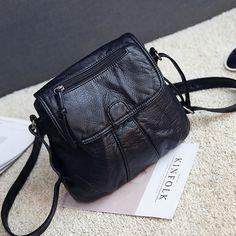 2017 Mini Crossbody Bags Women's Flap Black Bag Handbag PU Sac a Main Femme Ladies Message Bag Long Strap Female Clutch