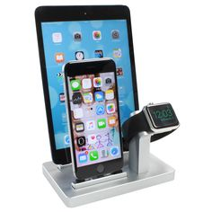 W3 Triple Charging Dock with Nightstand Mode supportfor iPhone, Apple Watch and iPad Based on three modular key components we created the first premium line o
