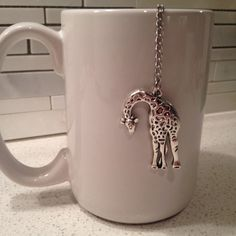 Giraffe Charm Tea Ball Infuser  Loose Leaf Tea by CleverKarma
