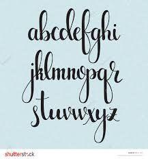 Resultado de imagen para calligraphy alphabet