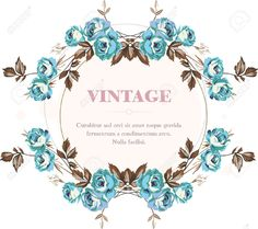 Vintage Style Shabby Roses Vector Frame Royalty Free Cliparts ...