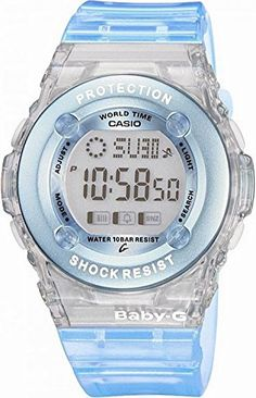 ba76c9d893b3 Casio Womens BG13022ER BabyG Blue Bezel Shock Resistant Watch -- Want  additional info  Click