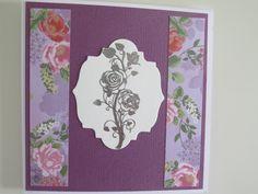 P*skarteluhaaste #281 - Bingo Kerroksia - violetti - embossaus