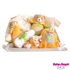 CANASTILLA BABY PLUS BÁSICA COLORES. Cesta para bebé. Canastilla para recién nacido.