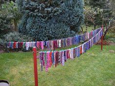 clothesline full of socks. DSCF1351 by natrixnatrix, via Flickr