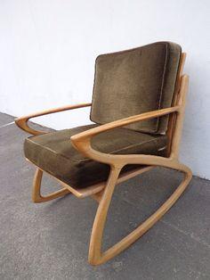 MCM Selig Z Inspired Rocker Armchair Rocking Chair mid century modern vintage retro rocker glider armchair midcentury chair teak wood by DejaVuDecors on Etsy https://www.etsy.com/listing/206474614/mcm-selig-z-inspired-rocker-armchair