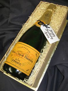 Cake Champagne bottle by hainesbarksdale, via Flickr