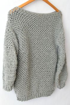 You may know that at this point, I've made quite a few cardigans, kimonos and blanket sweaters but have yet to share a traditional crocheted pullover. So here we go.....today I want to share how I made this super easy crocheted sweater that almost appears to be knit. Of course, sweaters can get pretty fancy and even tricky depending on how much shaping is involved. The stitch work can be complicated and when you combine all of that together, sweaters look daunting! However, after design...