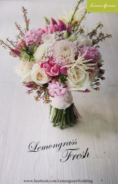 www.facebook.com/LemongrassWedding Flower Bouquets, Bride Bouquets, All Flowers, Fresh Flowers, Maid Of Honor, Flower Power, Floral Arrangements, Floral Wreath, Bridesmaid