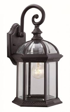 Vintage Exterior Lighting. Devon Large Wall Lantern in Black or ...