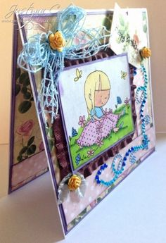 OOAK Birthday Greeting Handmade Card by Justyna C | Perfect Crafts by JC MISI Handmade Shop