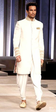 The pants are terrible Indian Men Fashion, Indian Bridal Fashion, Bridal Fashion Week, Muslim Fashion, Mens Fashion, Mens Sherwani, Wedding Sherwani, Baby Wedding Suits, Indian Bridal Week