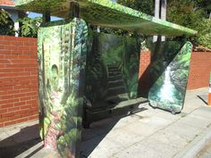 Graeme Richards bus stop. Don't look for this one unfortunately it has been terminated by some short sighted bureaucrat.