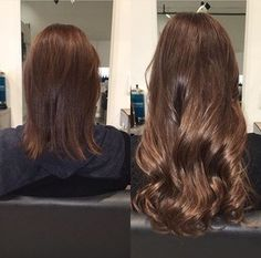 Gorgeous before and after using Tape-In Hair Extensions!
