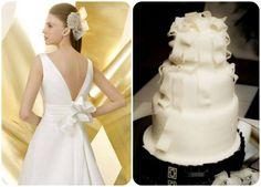 20 abiti da sposa 2014, abbinati ad altrettante torte nuziali: delizia per gli occhi e per il palato! Image: 3