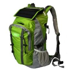 Advanced Technology Solar Charge Backpack Bag - Green (2.2W, 5,200mAh)