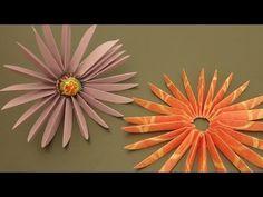DIY PAPER STARBURST FLOWER - Gerbera Daisy Lollipop Papercraft!