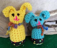 Yellow Bunny $4.50 message me thru etsy to get buying link  . . .  blue one sold out
