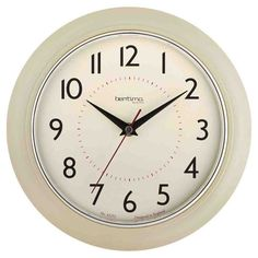 Wall Clock For Kitchen - Simple Wall Decor Ideas Cream Wall Clocks, Wall Clocks Uk, Wall Clock Target, Cream Kitchen Walls, Kitchen Wall Clocks, Küchen Design, Wall Colors, Wall Decor, Decor Ideas