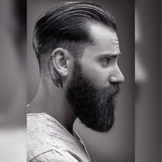 22 Cool Beards And Hairstyles For Men dominikberberich_shot_by__markusbacherphotographer_slicked back hair faded big beard Beard Styles For Men, Hair And Beard Styles, Hair Styles, Beards And Hair, Short Beard Styles, Medium Beard Styles, Great Beards, Awesome Beards, Slick Back Hair Fade