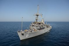 GULF OF OMAN,Nov.6,2014.Mine countermeasures ship USS Devastator (MCM 6) prepares to re-supply during International Mine Countermeasures Exercise.Quarter of world's navies participating including 6,500 Sailors,IMCMEX largest international naval exercise promoting maritime security & free-flow of trade through mine countermeasure ops,maritime security ops,& maritime infrastructure protection in US 5th Fleet area of responsibility & throughout the world.(USN Mass Comm Spec 1st Class Ace…
