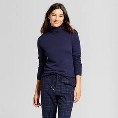 Women's Turtleneck - A New Day Navy (Blue) XS