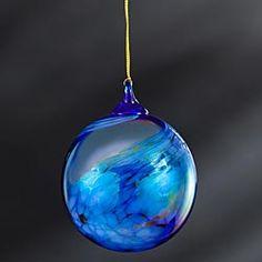 Cobalt Blue Blown-Glass Ornament in Late Autumn 2012 from Uno Alla Volta