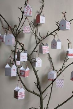 DIY Advent calendar. Free printable Good Ideas For You website has all kinds of things on it!