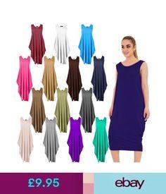 Dresses Ladies Parachute Long Baggy Romper Womens Loose Jumpsuit Sleeveless Tunic Top #ebay #Fashion