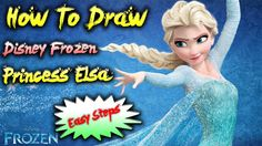 How to draw elsa from frozen step by step easy (Time Lapse) Part-1| HpAr...
