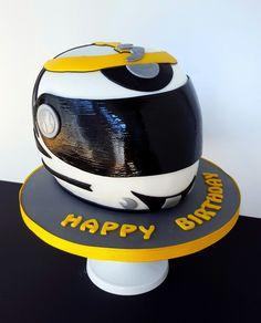 Mottorad Helm torte Cake Tort